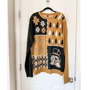 NWT NCAA Wake Forest Ugly Christmas Sweater